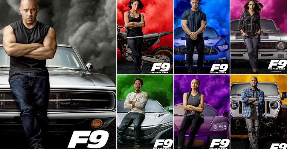 F9 saga posters fast and furious 9